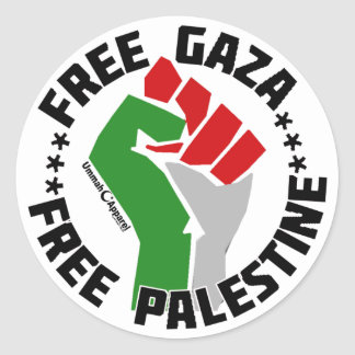 freier Gaza geben Palästina frei Runder Aufkleber