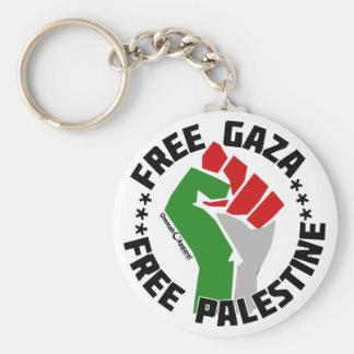 freier Gaza geben Palästina frei Standard Runder Schlüsselanhänger