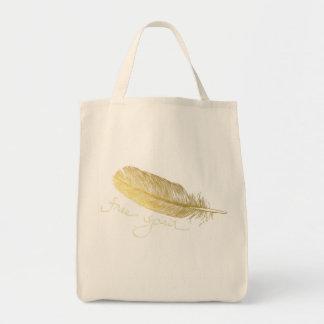 Freier Geist-Goldtasche Einkaufstasche