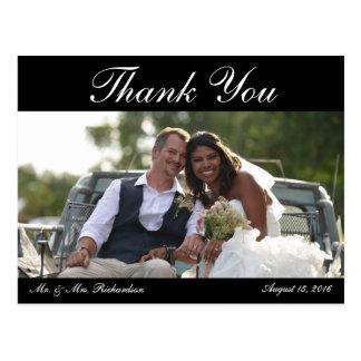 Freier Raum - Hochzeits-Foto Horiz. B&W Custom Postkarte