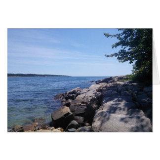 Freier Raum - Maine-Küste Karte