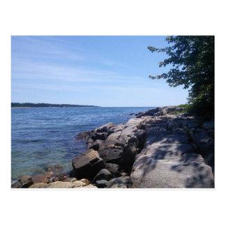 Freier Raum - Maine-Küste Postkarte