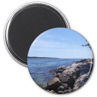 Freier Raum - Maine-Küste Runder Magnet 5,1 Cm