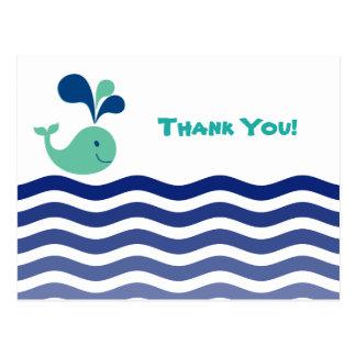 Freier Raum - Wal danken Ihnen Postkarte