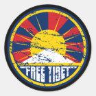 Freier runder Schmutz Tibets Runder Aufkleber