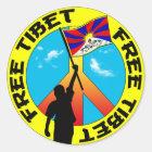 freier Tibet-Aufkleber Runder Aufkleber