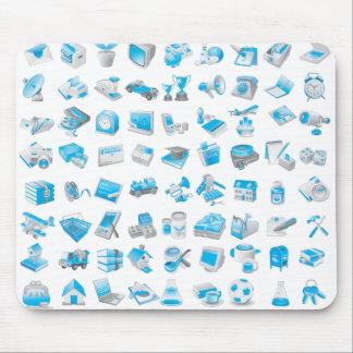 Freier Vektor blaues Icons.ai Mousepads