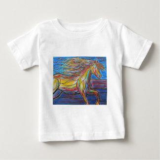 """""""Freier Zügel-"""" Pferdekunst-Mosaik-/Buntglas-Art! Baby T-shirt"""