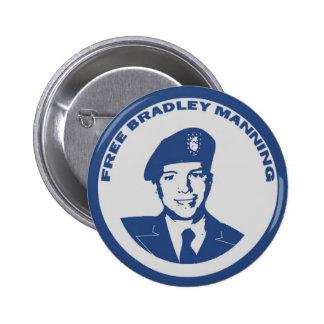 FREIES Bradley-Bemannen Runder Button 5,7 Cm