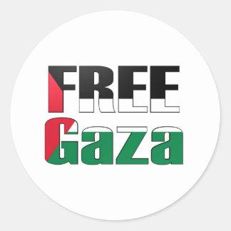 Freies Gaza Runder Aufkleber