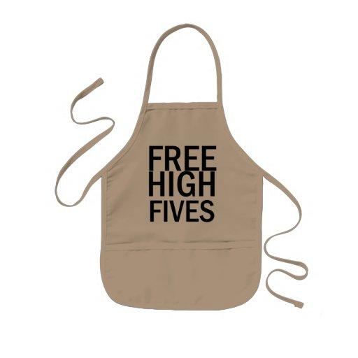 Freies hohes Fives Kinderschürze