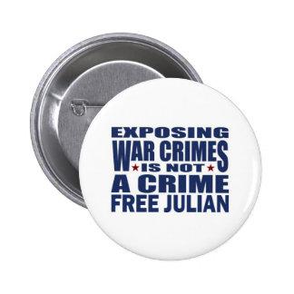 Freies julianisches Assange - WikiLeaks Anstecknadelbutton
