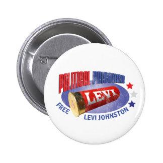 FREIES LEVI - politischer Gefangener Runder Button 5,1 Cm
