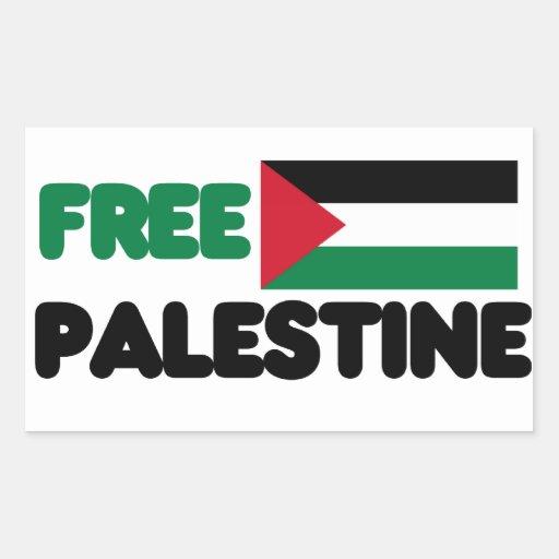 Freies Palästina Rechrteckaufkleber