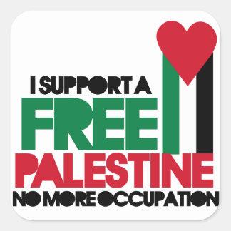 Freies Palästina Quadrat-Aufkleber