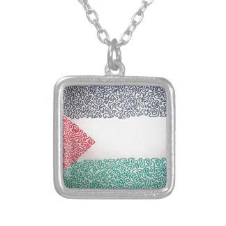 Freies Palästina Versilberte Kette