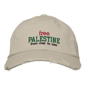 Freies Palästina - von Fluss zu Meer Bestickte Kappe