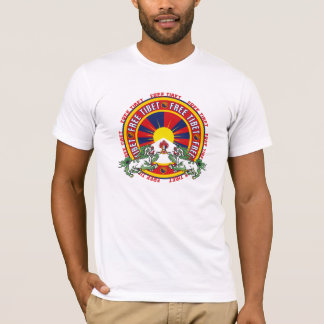 Freies rundes Logo Tibets T-Shirt