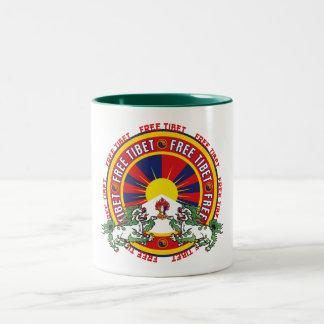 Freies rundes Logo Tibets Zweifarbige Tasse