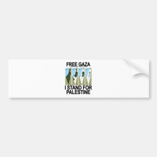 FREIES SICHERES GAZA PALESTINE.png Autoaufkleber
