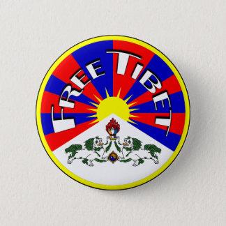 Freies Tibet-Abzeichen Runder Button 5,7 Cm