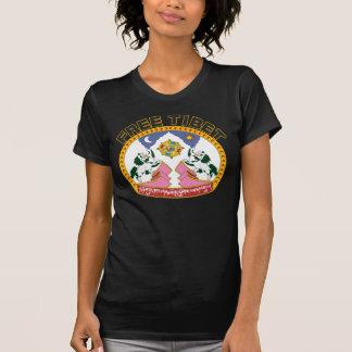 Freies Tibet-Flaggen-Logo T-Shirt