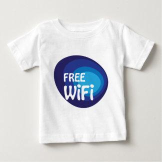 Freies wifi abstrakter Vektor Baby T-shirt