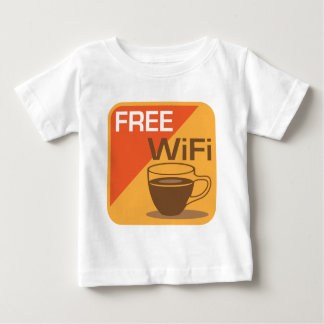 Freies Wifi Zeichen Baby T-shirt