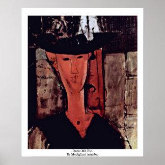 Freifrau Mit Hut By Modigliani Amadeo Poster