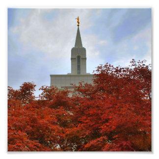 Freigebiger Tempel Utahs LDS Fotodruck