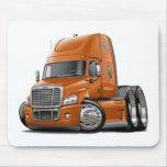 Freightliner Cascadia Orangen-LKW Mousepad