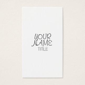 Freihändige einfache Ebene Visitenkarten