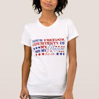 Freiheit Courtesty meines Marinesoldaten T-Shirt