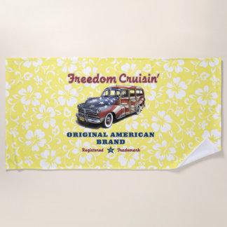 Freiheit Crusin hawaiischer Woody Hibiskus - Gelb Strandtuch
