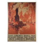 Freiheit des Weltkrieg-1 verpfändet Anzeige 1918 Postkarte