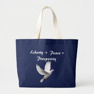 Freiheit + Frieden = Wohlstand Jumbo Stoffbeutel