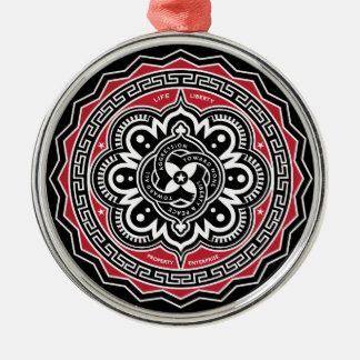 Freiheit für alle Verzierung Rundes Silberfarbenes Ornament
