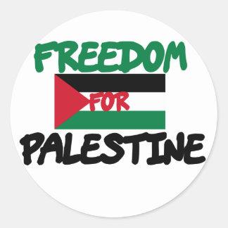Freiheit für Palästina Runder Aufkleber