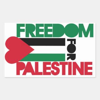 Freiheit für Palästina Rechteckiger Aufkleber