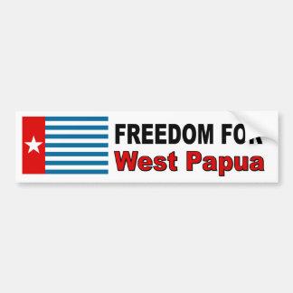 Freiheit für Westpapua Autoaufkleber