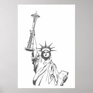 Freiheit in Seattle Poster