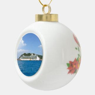 Freiheit in St. Maarten Keramik Kugel-Ornament