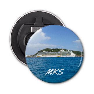 Freiheit in St. Maarten mit Monogramm Runder Flaschenöffner