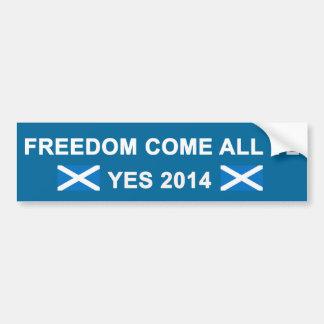 Freiheit kommen aller YE-Autoaufkleber Autoaufkleber