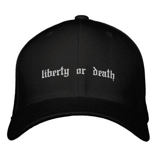 Freiheit oder Tod gestickter Hut Besticktes Cap