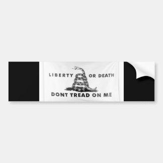 Freiheit oder Tod treten nicht auf mir Autoaufkleber