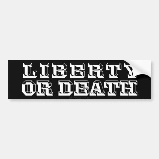 Freiheit oder TodesAutoaufkleber Autosticker