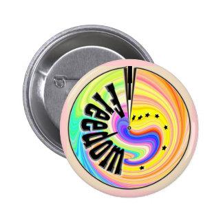 Freiheit Runder Button 5,1 Cm