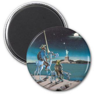 """""""Freiheit, Sancho… """"DON QUIJOTE - Magnet Runder Magnet 5,1 Cm"""