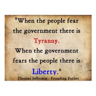 Freiheit über Tyrannei Postkarte